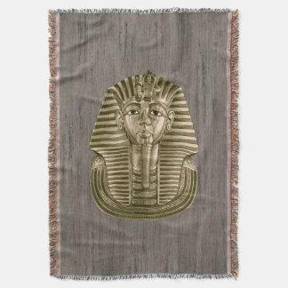 Golden King Tut Throw Blanket