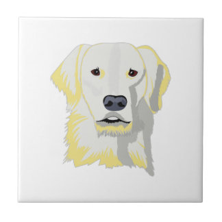 Golden Lab Small Square Tile