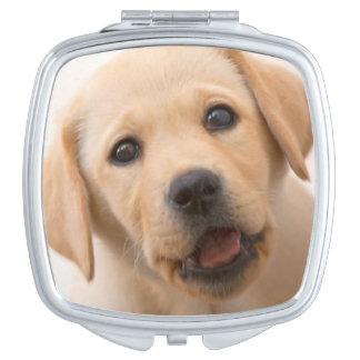 Golden Labrador Puppy Vanity Mirror