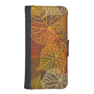 Golden lacy autumnal leaves Wallet case