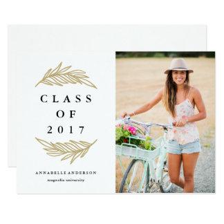 Golden Laurels Graduation Photo Announcement