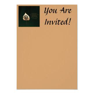 Golden Leaf Custom Invites