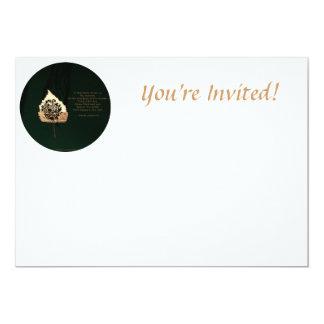 Golden Leaf Custom Invitations