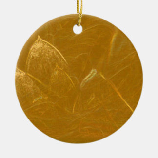 Golden Lotus Etched Foil LowPrice Shades n Pattern Christmas Ornament