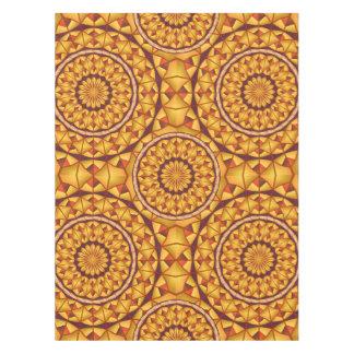 Golden mandalas pattern tablecloth