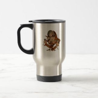 Golden Mermaids Travel Mug