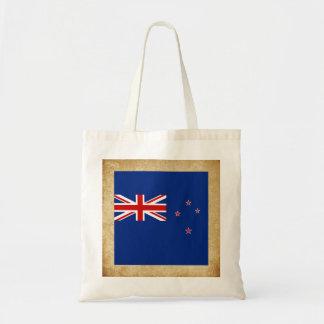 Golden New Zealand Flag Budget Tote Bag