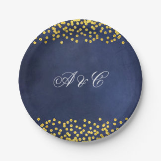 Golden Night Sky Party Paper Plates
