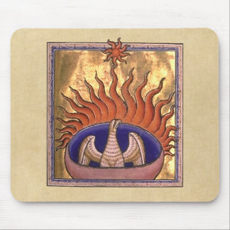 Golden Phoenix Rising From the Ashes Mouse Pad