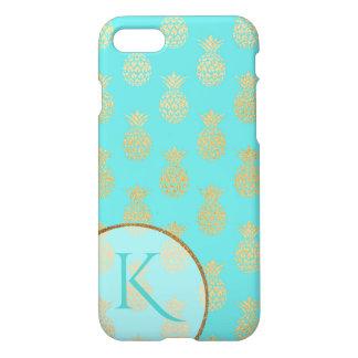 Golden Pineapples Monogrammed iPhone 7/8 Case