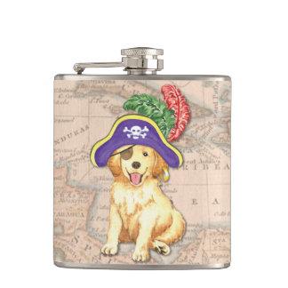 Golden Pirate Hip Flask
