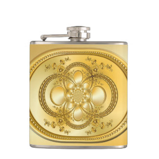 Golden Plate Hip Flask