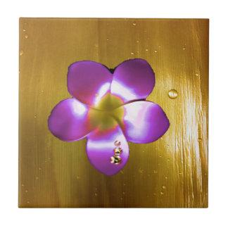 Golden Plumeria Tile