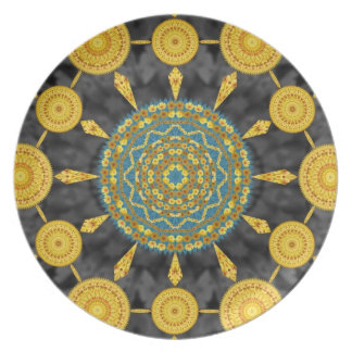 Golden Poppies Mandala Plate 2