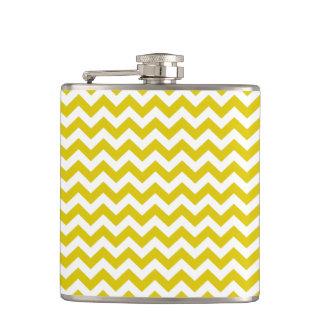 Golden Poppy Safari Chevron Hip Flask