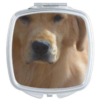 Golden Pup Travel Mirror