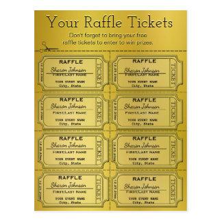 Golden Raffle Tickets