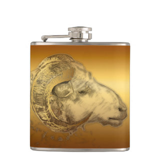 Golden Ram Chinese New Year 2015 - Flask