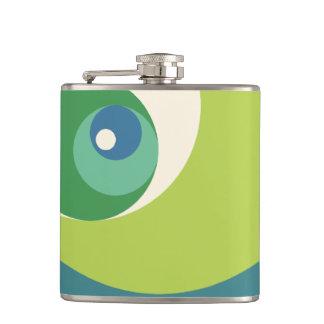 Golden Ratio Circles (Green) Flask