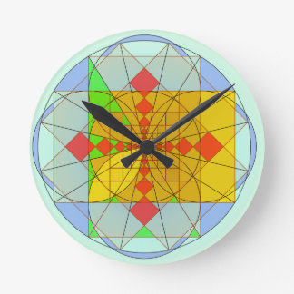 Golden rectangle shapes round clock