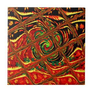 Golden red African Traditional Color.png Small Square Tile
