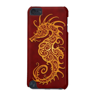 Golden Red Tribal Seahorse iPod Touch (5th Generation) Cases