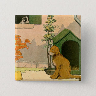 Golden Retriever and Jack Russell Terrier 15 Cm Square Badge