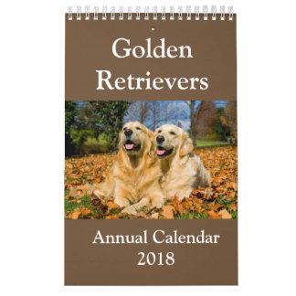Golden Retriever Annual Calendar 2018