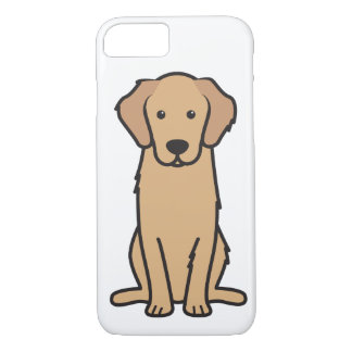 Golden Retriever Dog Cartoon iPhone 7 Case