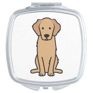 Golden Retriever Dog Cartoon Mirror For Makeup