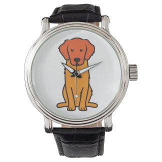 Golden Retriever Dog Cartoon Watch