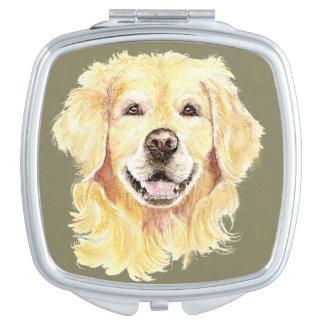 Golden Retriever Dog Pet Animal watercolor Vanity Mirror