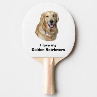 Golden Retriever dog photo portrait Ping Pong Paddle