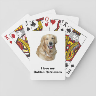 Golden Retriever dog photo portrait Playing Cards