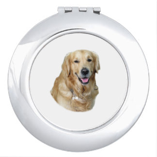 Golden Retriever dog photo portrait Vanity Mirror