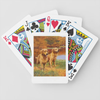 Golden Retriever Dog Playing Cards