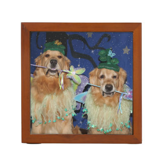 Golden Retriever Fairies Pencil Holder