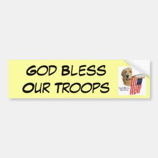 Golden Retriever God Bless  Bumper Sticker