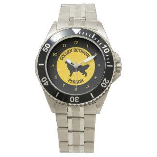 Golden Retriever Person Watch