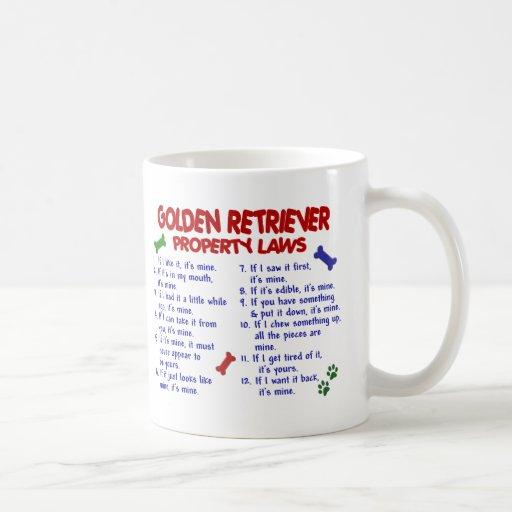 Golden Retriever Property Laws 2 Mug