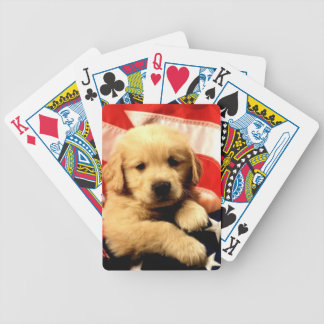 Golden Retriever Puppy Dog Playing Cards
