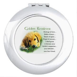 Golden Retriever Puppy Heritage Gifts Vanity Mirror