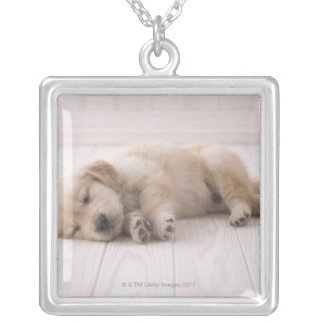 Golden Retriever Silver Plated Necklace
