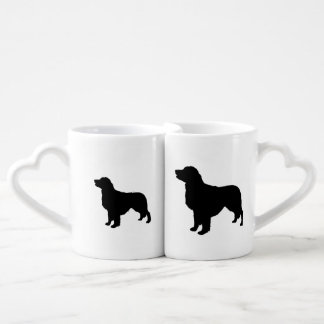 Golden Retriever sporting hunting dog Silhouette Lovers Mug Sets