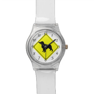 Golden Retriever Warning Sign Love Dogs Silhouette Watch