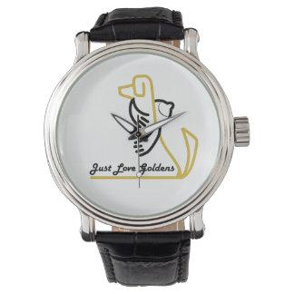 Golden Retriever Watch, Just Love Goldens Watch