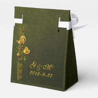 Golden Rose Wedding Suite Party Favour Boxes
