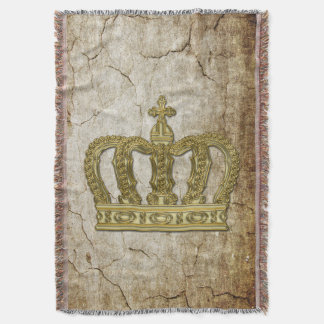 Golden Royal Crown II + your backgr. & ideas Throw Blanket