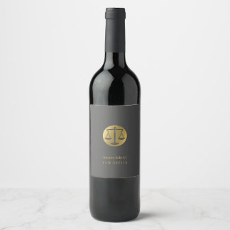 Golden Scales of Justice | Professional Wine Label