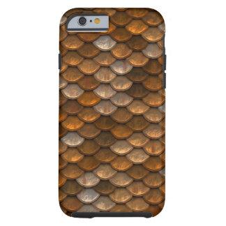 Golden Scales Pattern Tough iPhone 6 Case